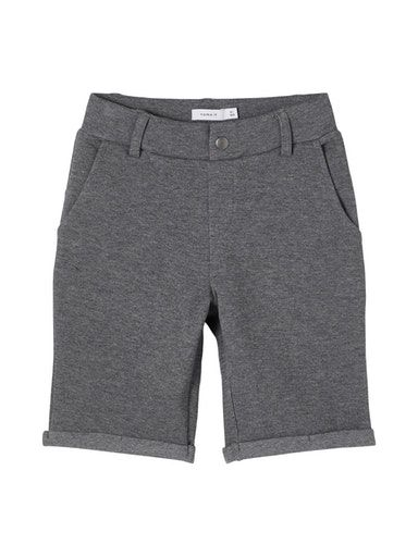 Shorts, Chino Sweat - Mørke Grå - Name It