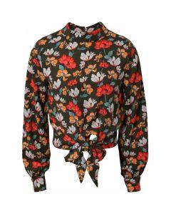 Skjorte m. knude - Blomster - Pige - Hound