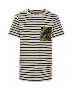 T-shirt, Noise - Stribet, sort, hvid - Cost:bart