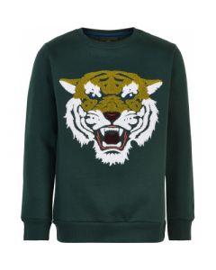 Norman Sweatshirt m. tiger - Grøn - Dreng - The New.