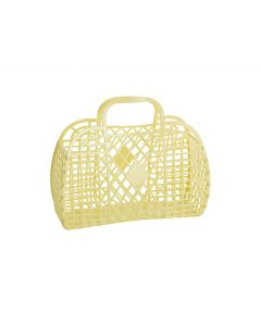Retro Basket, Small - Gul - Sun Jellies