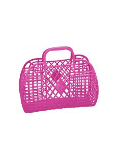 Retro Basket, Small - Pink - Sun Jellies