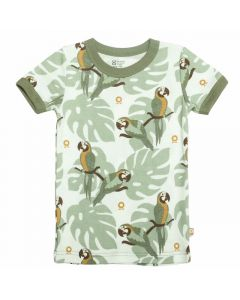 T-shirt, Papegøje - Grøn - Katvig