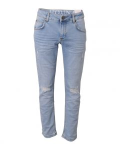 Jeans, Straight - 7/8 længde - Lys demin - Hound