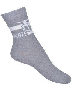Strømper, Skate - Grå - Melton