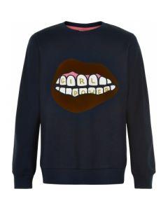 Sweatshirt, Elexa - Navy - The New