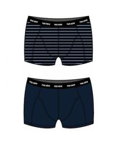 Boxershorts 2 pk. - Navy og stribet - The New.