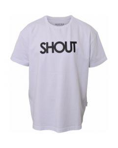 T-shirt, Shout - Hvid - Dreng - Hound
