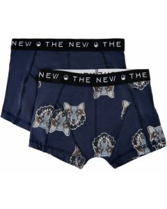 Boxershorts, 2 pk. - Ulv, navy - The New