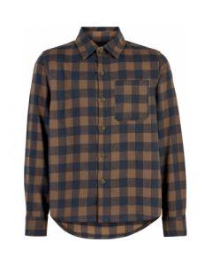 Skjorte, tern - Brun og navy - The New.