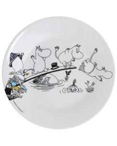 Mumi tallerken, vand og bad - Hvid - Mumi by Rätt start