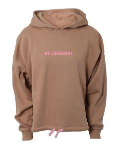 Hoodie, Short, Be original - Brun - Hound