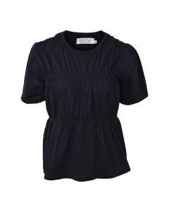 T-shirt, Wrinkle - Sort - Hound