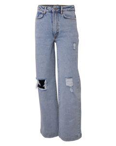 Jeans, Vide m. slid - Lys denim - Hound