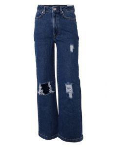 Jeans, Vide m. huller - Mørk denim - Hound