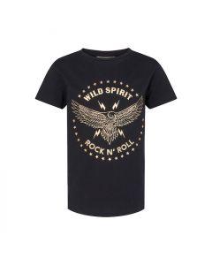 T-shirt - Ørn - Sort, guld - Sofie Schonoor Girls.