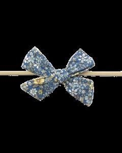 Gry hårbånd m. sløjfe - Blå, gul - Bow´s by Stær