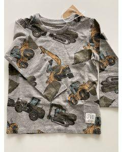 T-shirt, Grave maskiner - Grå - Name it.