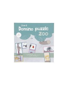 2-in-1 Domino/Puzzle Zoo - Little Dutch