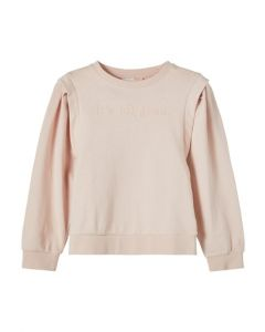 Sweat bluse - It´s all good - Rosa - Name it.