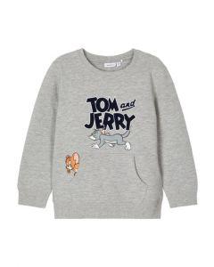 Sweat bluse - Tom og Jerry - Grå - Name it.