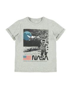 T-shirt, Nasa - Grå - Name it.