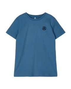 T-shirt m. lille logo - Real Teal - Name it.