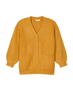 Cardigan, lang - Spruce yellow - Name it.
