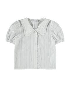 Skjorte m. stor krave - Hvid - Name it.