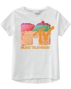 T-shirt, MTV - Isvaffel - Hvid - Name it.
