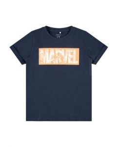 T-shirt, Marvel, Orange - Navy - Name It