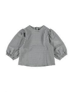 Bluse, Kort, Tern - Sort-Hvid - LMTD