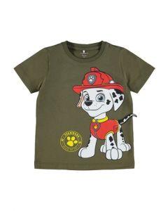 T-shirt, Paw Patrol - Marshall - Grøn - Name it.
