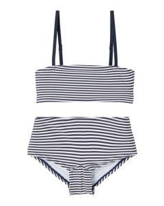 Bikini, stribet - Hvid, navy - LMTD