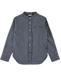 Skjorte - Ternet - Grå, blå - Dreng - Name it.