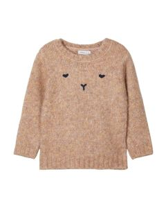 Sweater m. ansigt - Lys rosa - Name it