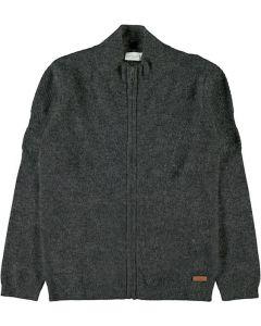 Cardigan m. lynlås - Mørke grå - Dreng - Name it.