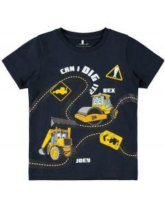 T-shirt, I can dig it - Navy - Dreng - Name it.
