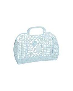 Retro Basket, Large - Lys Blå - Sun Jellies