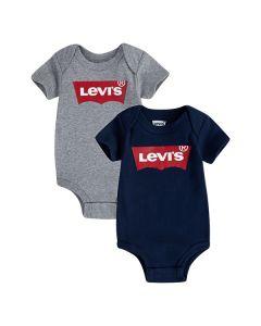 Bodies, Batwing, 2-pak - Grå/Navy - Levi's Kids