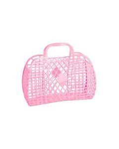 Retro Basket, Large - Rosa - Sun Jellies