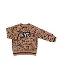 Sweat bluse, Leopard - Warm Camel - Sofie Schnoor