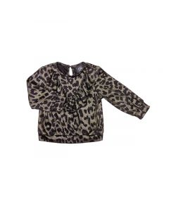 Bluse, leopard - Sort, guld - Petit by Sofie Schnoor