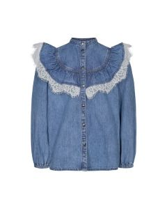 Skjorte, m. blonde - Denim - Sofie Schnoor Girls