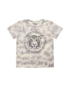 T-shirt, Tie dye - Grå, hvid - Petit by Sofie Schnoor.