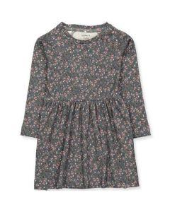 Kjole, Omelia - Blomster, grå, rosa - Name it.