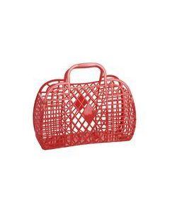 Retro Basket, Large - Rød - Sun Jellies