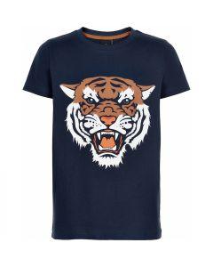 T-shirt, Tiger - Navy - Dreng - The New