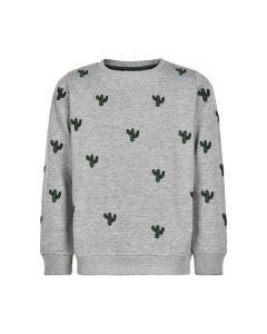 Sweatshirt, Tyler - Kaktus - Grå - The New