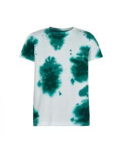 T-shirt, Tie dye - Hvid, grøn - The New